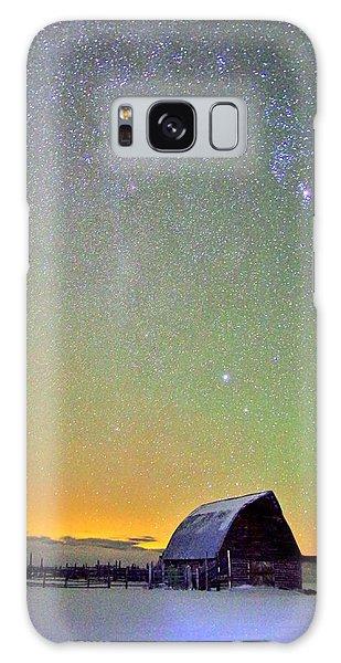 Colorful Night Barn Galaxy Case