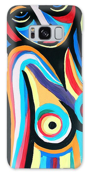 Colorful Nude Lady Galaxy Case by Cynthia Snyder
