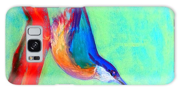Colorful Nuthatch Bird Galaxy Case