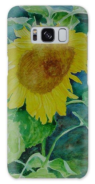 Colorful Original Watercolor Sunflower Galaxy Case