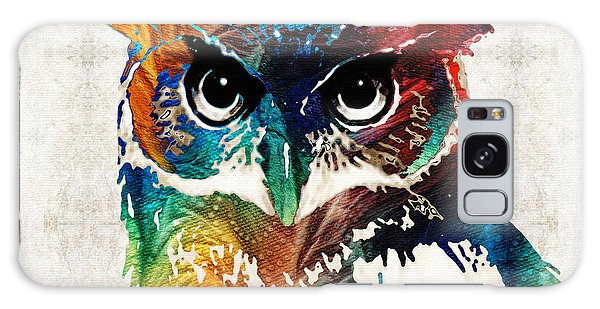 Colorful Owl Art - Wise Guy - By Sharon Cummings Galaxy Case