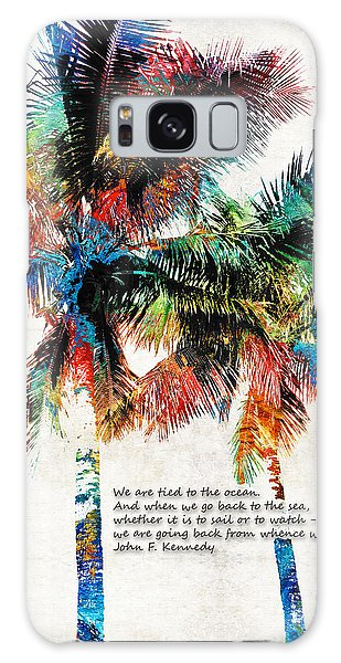 Tree Galaxy Case - Colorful Palm Trees - Returning Home - By Sharon Cummings by Sharon Cummings