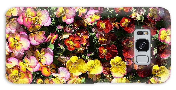 Colorful Pansies Galaxy Case