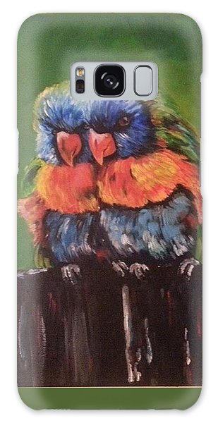 Colorful Parrots Galaxy Case