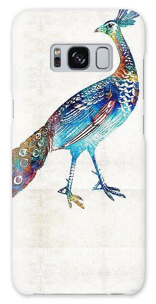 Peacock Galaxy Case - Colorful Peacock Art By Sharon Cummings by Sharon Cummings