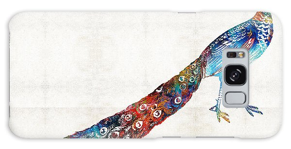 Peacocks Galaxy Case - Colorful Peacock Art By Sharon Cummings by Sharon Cummings