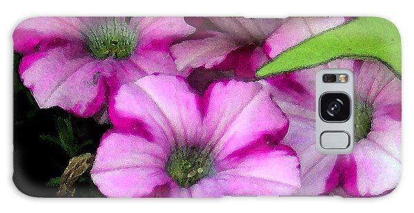 Colorful Petunias Galaxy Case