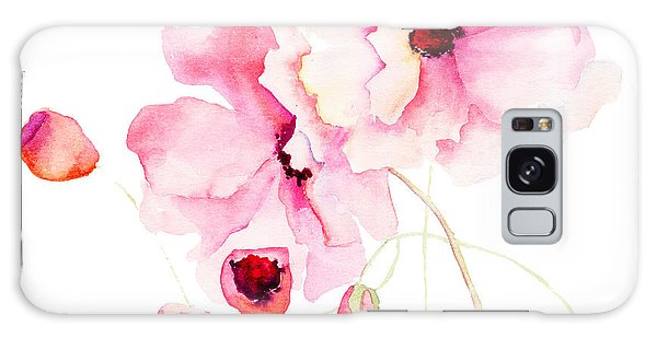 Colorful Pink Flowers Galaxy Case