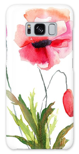 Colorful Poppy Flowers Galaxy Case