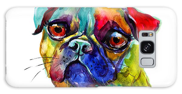 Colorful Pug Dog Painting  Galaxy Case