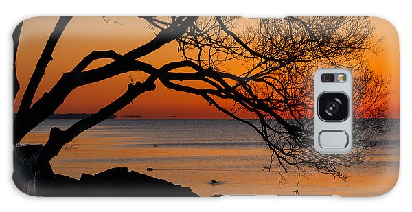 Colorful Quiet Sunrise On Lake Ontario In Toronto Galaxy Case