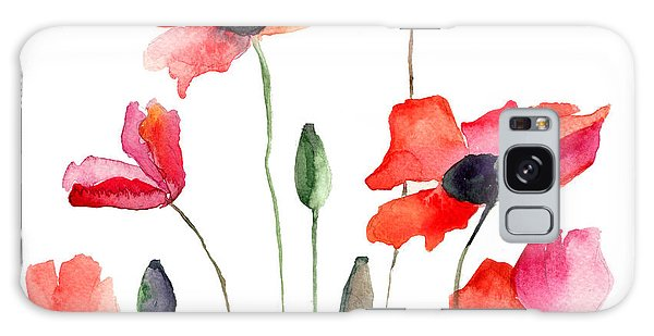 Colorful Red Flowers Galaxy Case