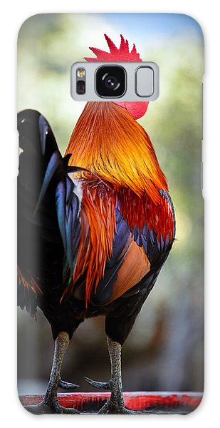 Colorful Rooster Galaxy Case by Celso Diniz