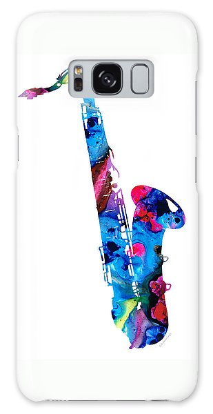 Music Galaxy S8 Case - Colorful Saxophone 2 By Sharon Cummings by Sharon Cummings