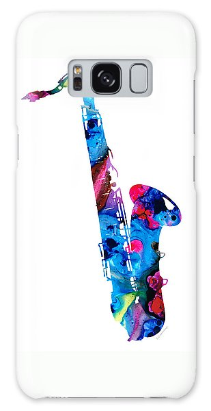 Colorful Saxophone 2 By Sharon Cummings Galaxy Case