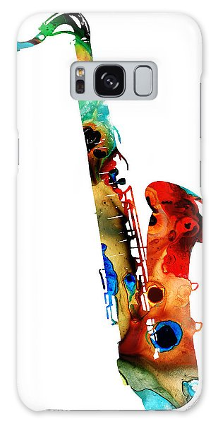 Colorful Saxophone By Sharon Cummings Galaxy Case