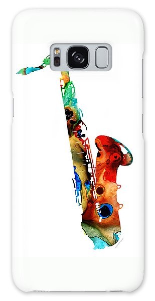 Colorful Saxophone By Sharon Cummings Galaxy Case by Sharon Cummings