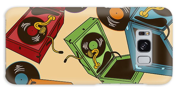 Record Galaxy Case - Colorful Seamless Pattern Of Gramophones by Annykos