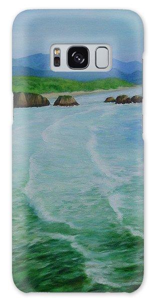 Colorful Seascape Oregon Cannon Beach Ecola Landscape Art Painting Galaxy Case