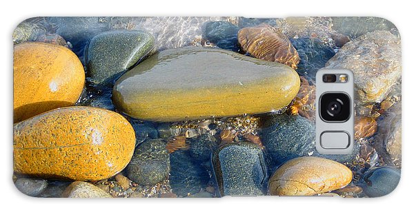 Colorful Shore Rocks Galaxy Case