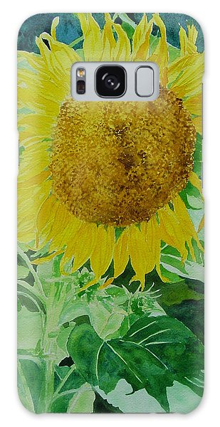Colorful Sunflowers Watercolor Original Sunflower Art Galaxy Case
