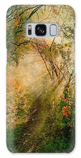 Colorful Sunlit Path Galaxy Case
