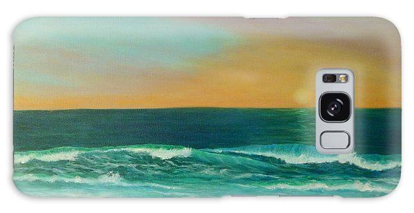 Colorful Sunset Beach Paintings Galaxy Case