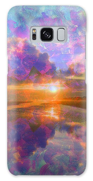 Colorful Sunset By Jan Marvin Galaxy Case