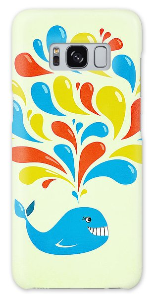 Colorful Swirls Happy Cartoon Whale Galaxy Case