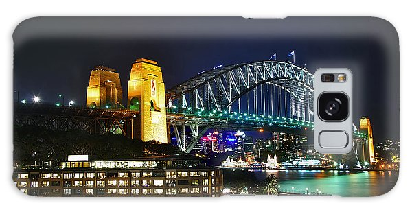 Colorful Sydney Harbour Bridge By Night Galaxy Case