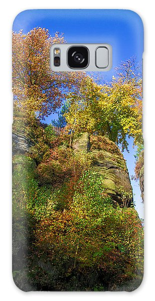 Colorful Trees In The Elbe Sandstone Mountains Galaxy Case
