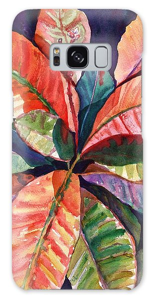 Colorful Tropical Leaves 1 Galaxy Case