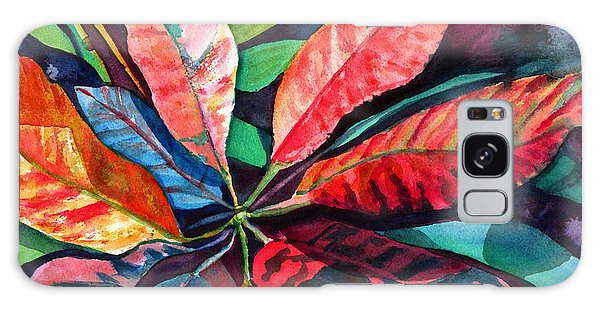 Colorful Tropical Leaves 2 Galaxy Case