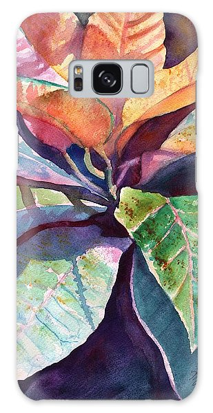 Colorful Tropical Leaves 3 Galaxy Case