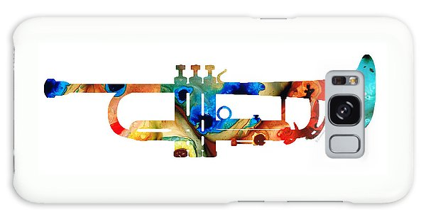 Music Galaxy Case - Colorful Trumpet Art By Sharon Cummings by Sharon Cummings