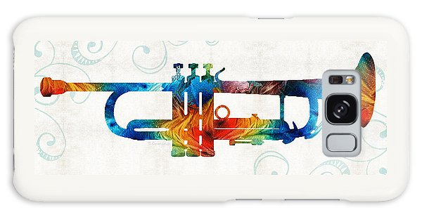 Colorful Trumpet Art Color Fusion By Sharon Cummings Galaxy Case