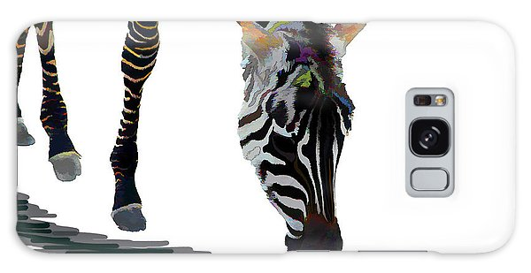 Colorful Zebra 2 Galaxy Case by Teresa Zieba