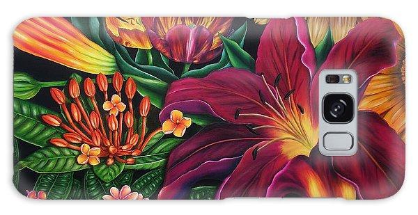 Colors Garden Galaxy Case by Paula Ludovino
