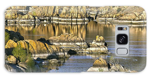 Powerboat Galaxy Case - Colors In The Rocks At Watsons Lake Arizona by James Steele