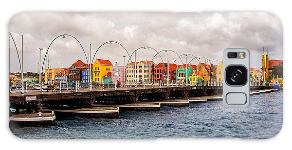 Colors Of Willemstad Curacao And The Foot Bridge To The City Galaxy Case
