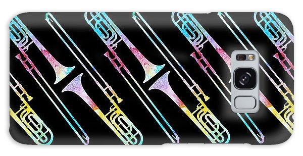 Trombone Galaxy S8 Case - Colorwashed Trombones by Jenny Armitage