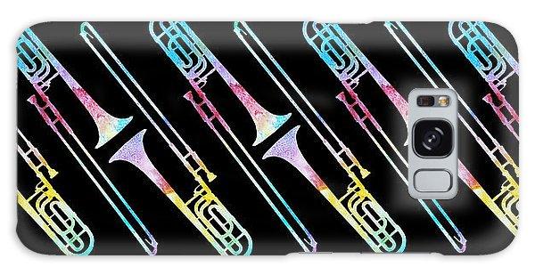 Trombone Galaxy Case - Colorwashed Trombones by Jenny Armitage