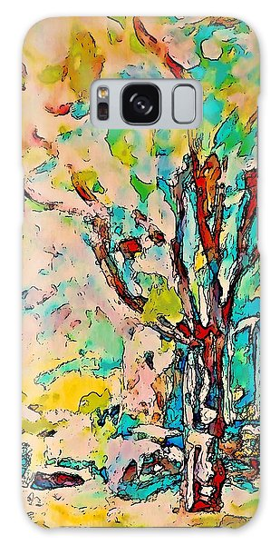Colourful Cherry Tree Galaxy Case