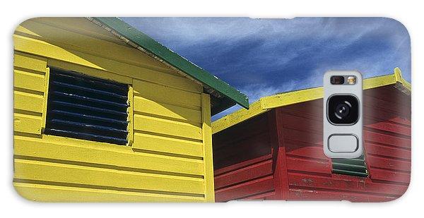 Coloured Beach Huts Galaxy Case