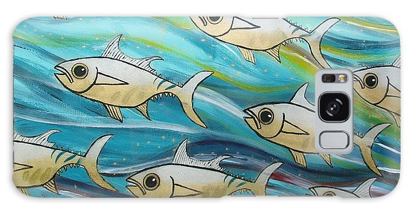 Galaxy Case - Coloured Water Fish by Joan Stratton