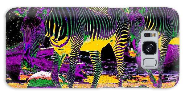 Colourful Zebras  Galaxy Case
