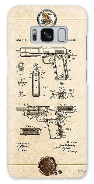 Semis Galaxy Case - Colt 1911 By John M. Browning - Vintage Patent Document by Serge Averbukh