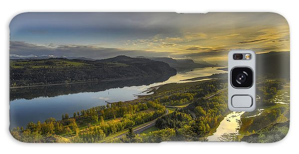 Columbia River Gorge At Sunrise Galaxy Case