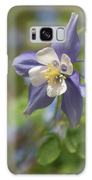 Aquilegia Galaxy Case - Columbine (aquilegia X Hybrida 'swan Blue And White') by Maria Mosolova/science Photo Library