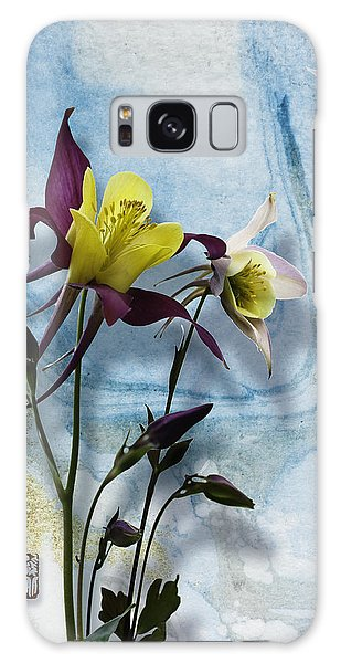 Columbine Blossom With Suminagashi Ink Galaxy Case